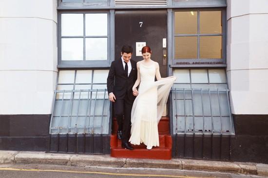 chic town hall wedding0034