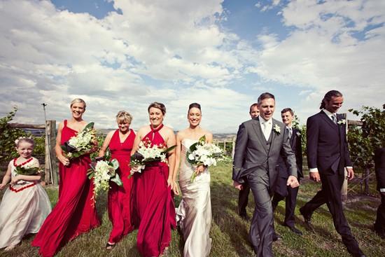 rapsberry twobirds bridesmaid