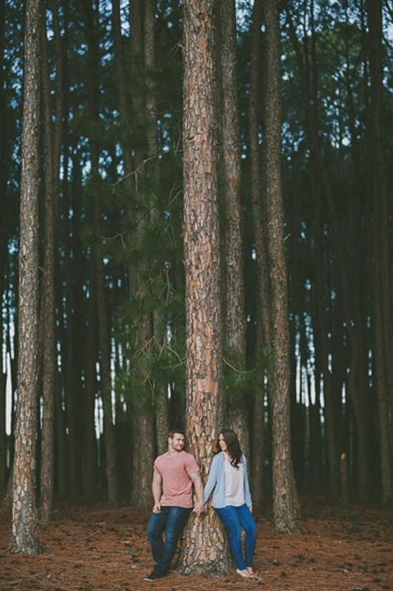 romantic pine forest engagement0014