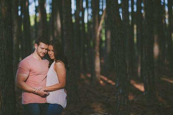 romantic pine forest engagement0031