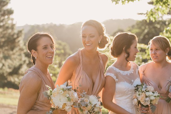 twobirds bridesmaid gowns in blush