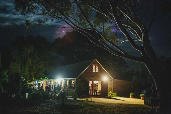 Australian barn wedding reception