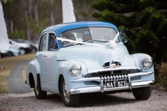 FJ Holden wedding car