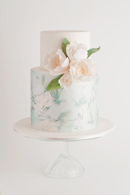 Winter print wedding cake Cake Ink