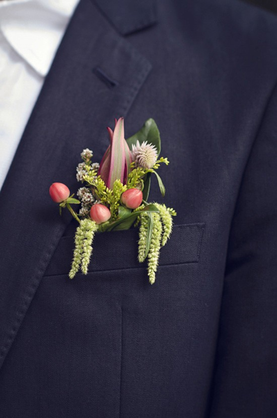 amaranthus boutonniere.