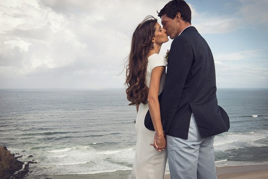 australian coastline wedding