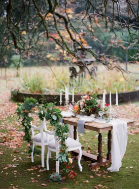 autumn styled engagement