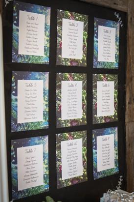 botanical seating chart