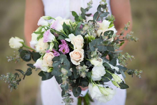 bouquet with dollar gum leaves