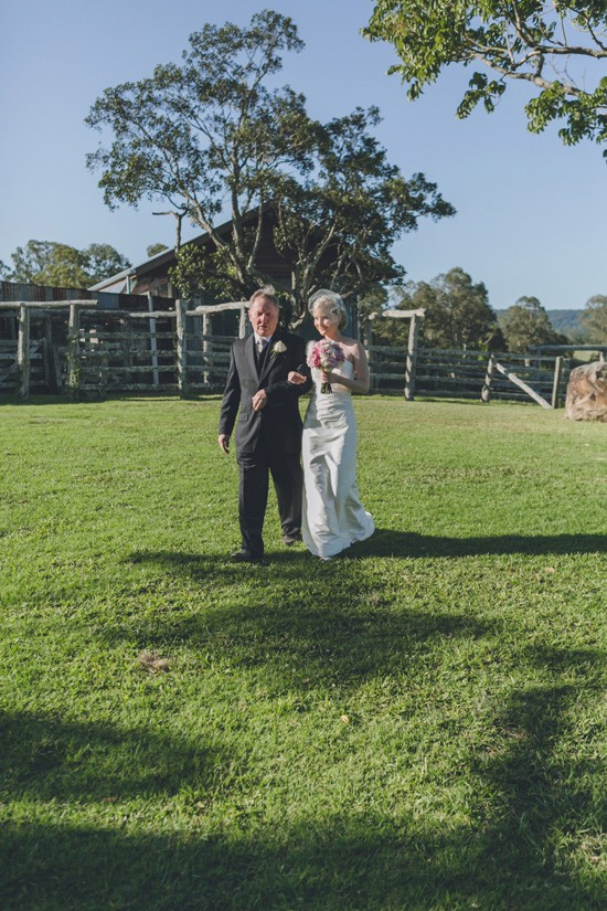 bride walking down aisle yandina station