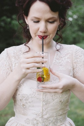 bride with pimms