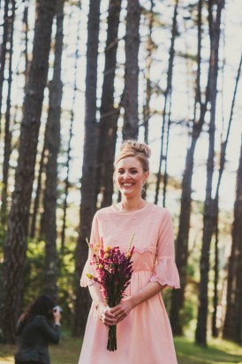 bridesmaid woodland wedding