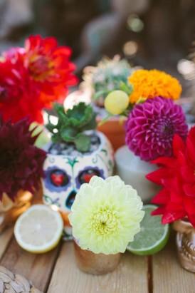 bright dahlias wedding