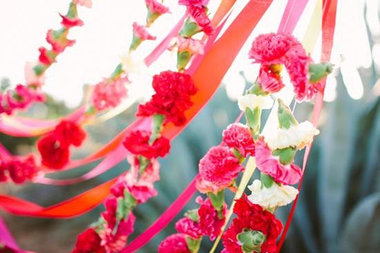 bright flower garlands