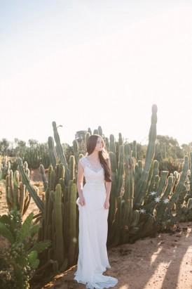 cactus garden wedding idea