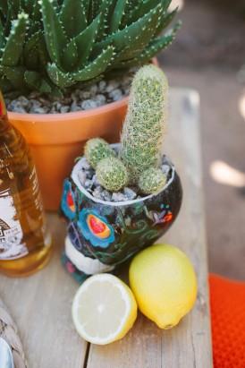 cactus weddng decor