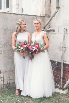 calvin klein bridesmaid gown
