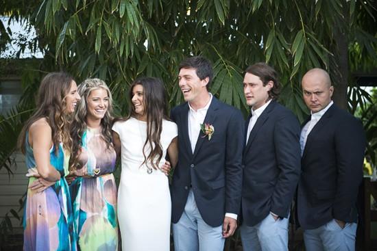colourful byron bay wedding