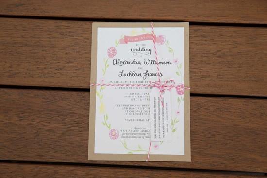 etsy wedding invitation