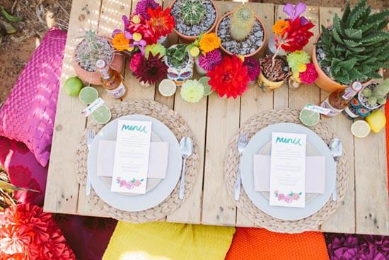 fiesta inspired wedding decor