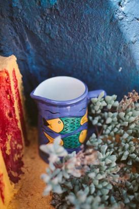 fish painted water jug
