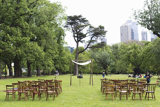 fitzroy gardens wedding ceremony