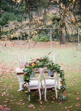 floral chair garland
