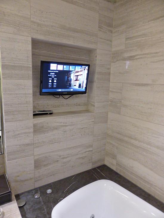 grand hyatt ambassador suite bathroom tv