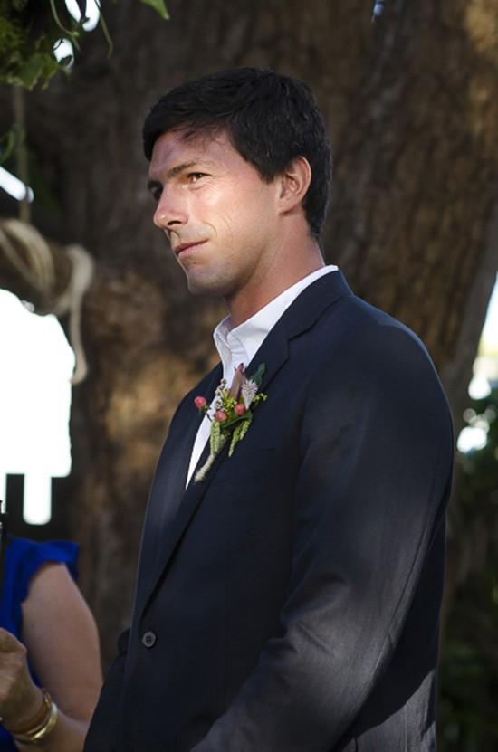 groom at byron bay wedding