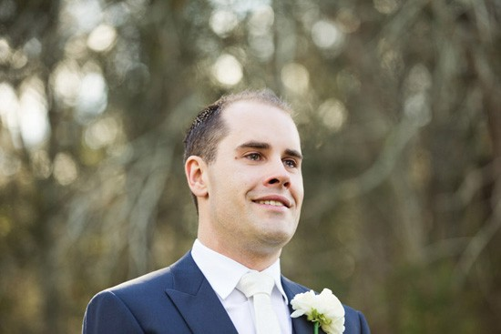 groom at hunter valley wedding