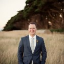 groom at tasmanian wedding