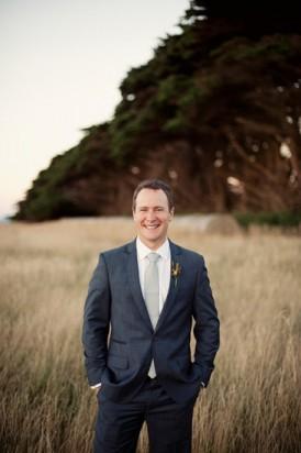 groom at tasmanian wedding