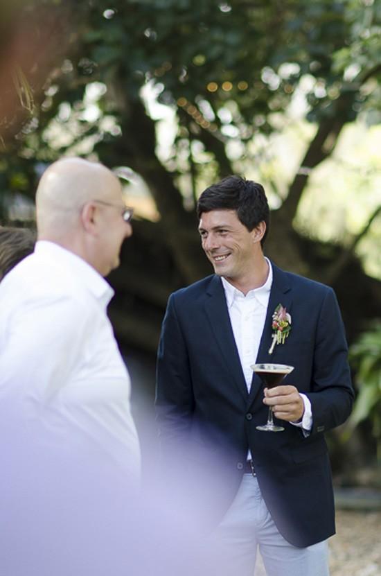 groom with espresso martini