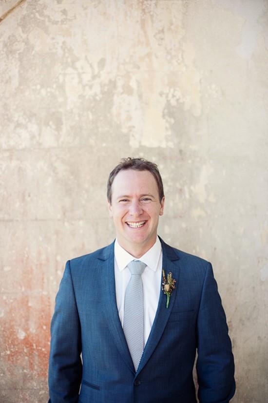 groom with grey tie