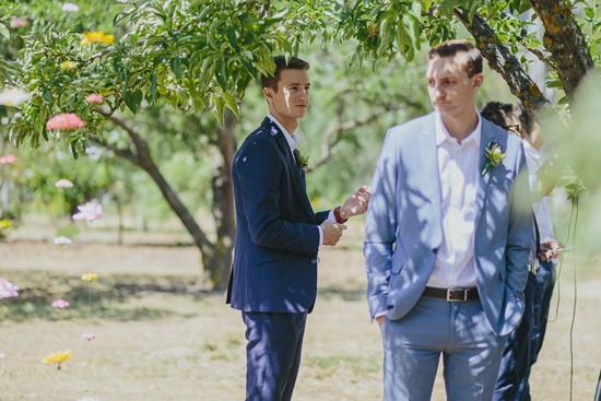 groomsmen at barn wedding