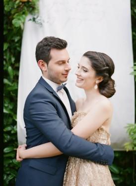 hand lettered wedding backdrop