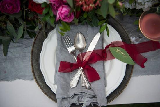marsala and grey wedding style