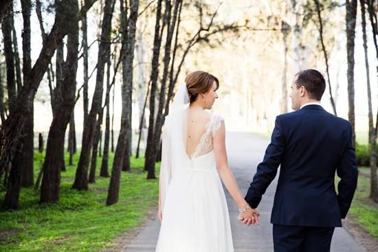 newlyweds at hunter valley wedding