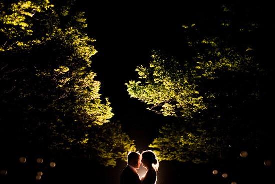 night time wedding photo