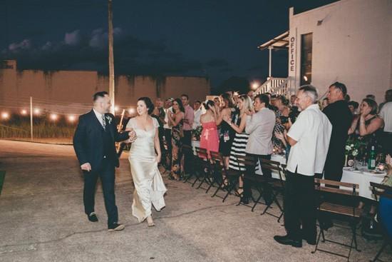 noosa industrial wedding entrance