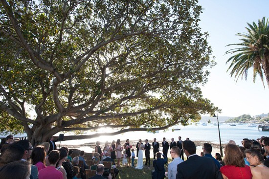 outdoor ceremony at watsons bay
