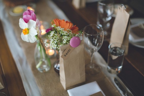 paper bag wedding favors