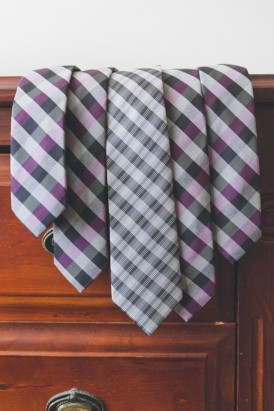 purple and black check ties