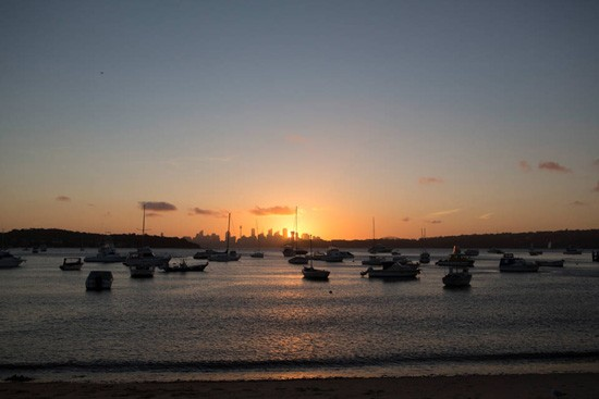 sunset over watsons bay