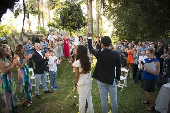 tropical garden wedding in byron bay
