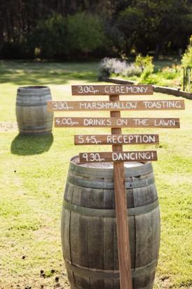 vineyard wedding signs