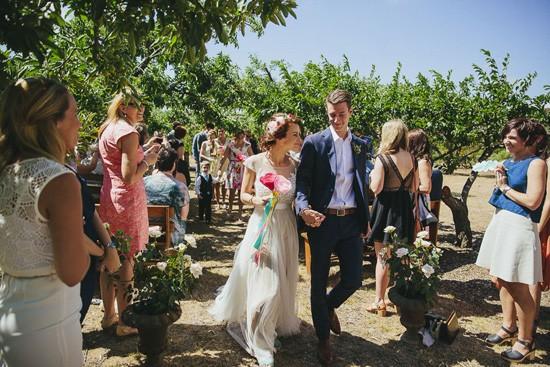 wedding ceremony at providence gully