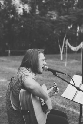 Acoustic guitarist at wedding