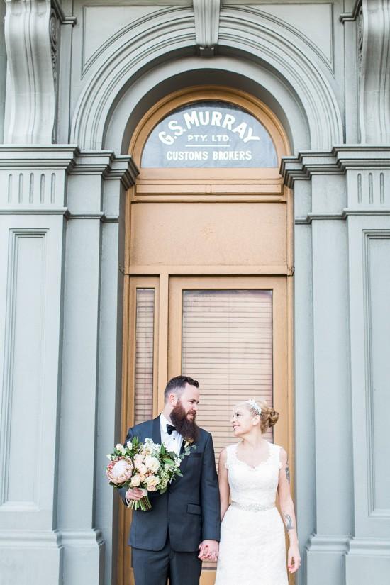 Art deco Fremantle wedding photo