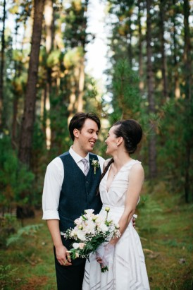 Australia forest wedding portrait